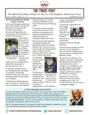 THE TRUST POST 2-17, The Monthly News Sheet of the St. Christopher National Trust